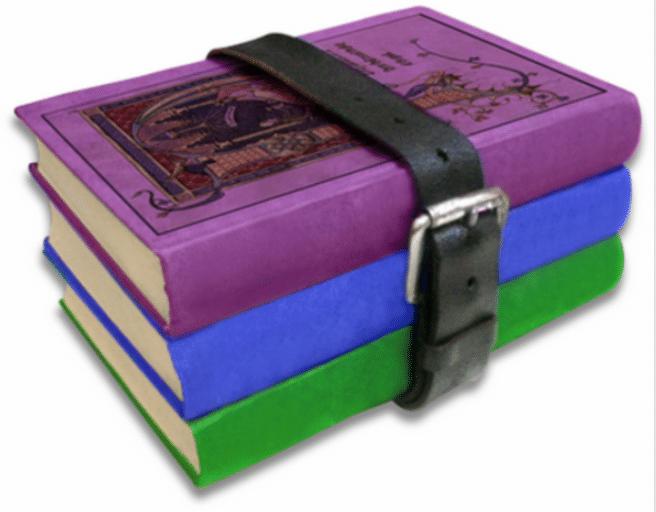 архив rar книги обвязанные ремнем картинка