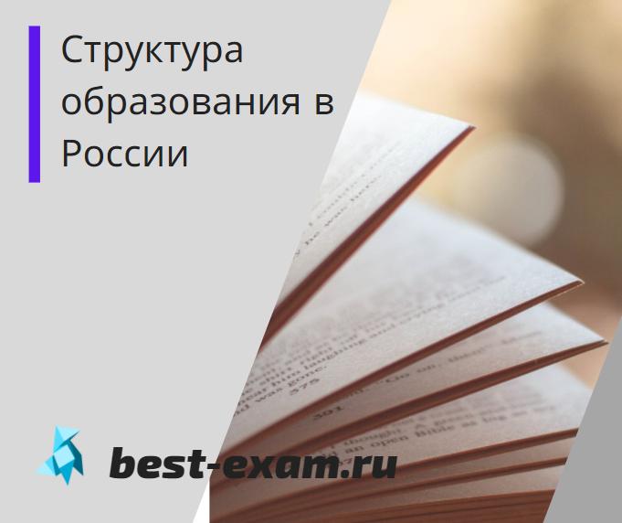 Структура образования в России